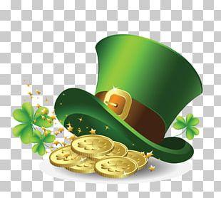 Saint Patrick's Day Hat Gold PNG