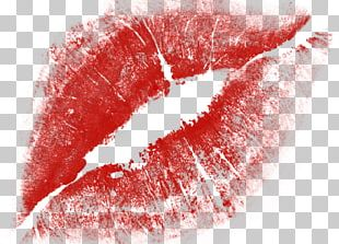 Red Kiss Lips PNG