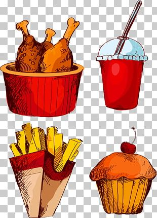 Fried Chicken Fast Food French Fries Cola PNG