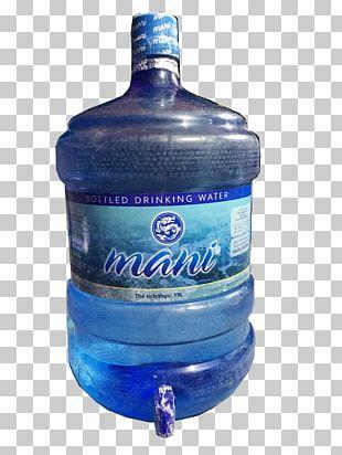 Glass Bottle Mineral Water Bottled Water Cobalt Blue PNG