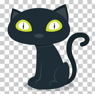 Halloween Black Cat PNG