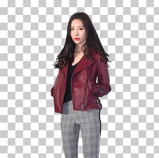 Sunmi Red Leather Jacket PNG