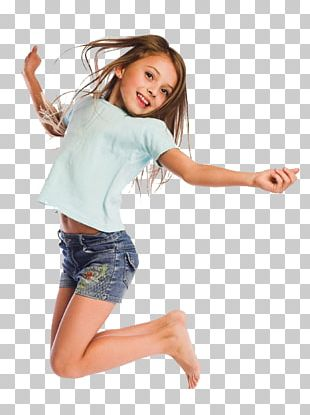 Child Girl Jumping Inflatable Castle Toddler PNG