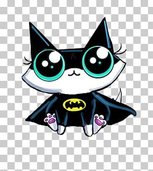 Whiskers Kitten Black Cat Batman PNG