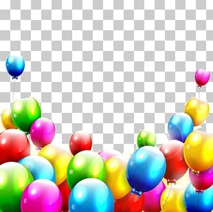 Birthday Balloon Color Illustration PNG