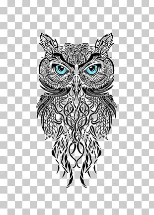 Owl Man's Ruin Tattoo & Piercing Black-and-gray Scleral Tattooing PNG