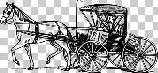 Horse And Buggy Carriage Horse-drawn Vehicle Drawing PNG