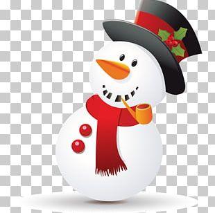 Santa Claus Christmas Snowman Sticker PNG