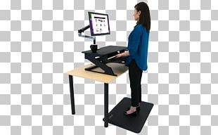Standing Desk Standing Desk Sit-stand Desk Office Supplies PNG
