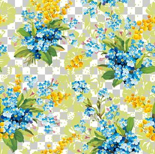 Blue Flowers Flower Small Floral Pattern Decorative Patterns PNG