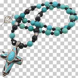 Turquoise Gemstone Necklace Inlay Onyx PNG