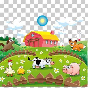 Cattle Cartoon Farm Illustration PNG