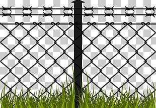 Barbed Wire Fence Chain-link Fencing PNG
