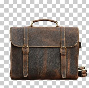 Briefcase Leather Hand Luggage Handbag Baggage PNG