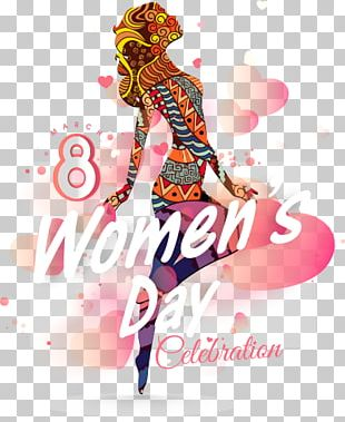 International Womens Day Poster March 8 Woman PNG