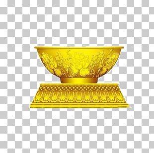 Bowl Gold Euclidean PNG