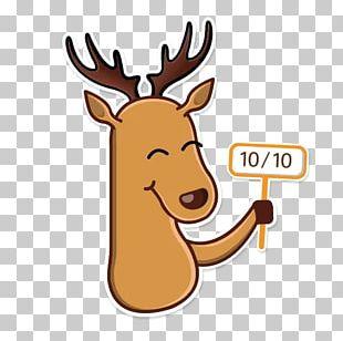 Reindeer Elk Moose Sticker Antler PNG