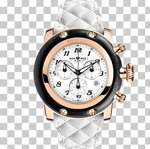 Watch Strap Glam Rock Leather Swiss Made PNG