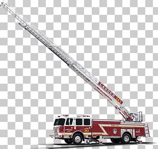 Fire Engine Crane Truck Ladder Fire Department PNG