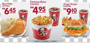 KFC Malaysian Cuisine Fast Food Restaurant Menu Lunch PNG