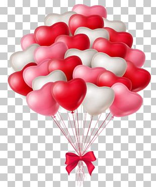 Hand-painted Heart Balloon PNG