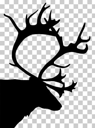 Reindeer Silhouette Christmas PNG