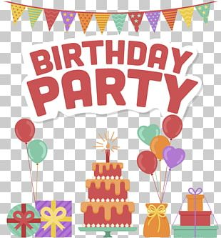 Birthday Party Posters PNG
