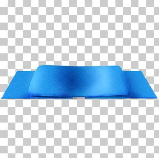 Electric Blue Angle Yoga Mat PNG