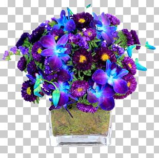 Flower Bouquet Cut Flowers Violet Orchids PNG