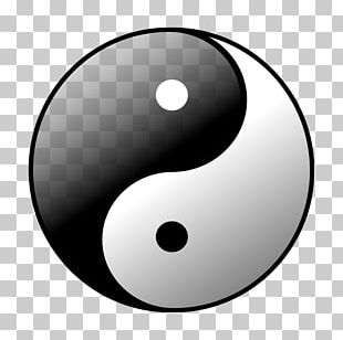 Wudang Mountains Yin And Yang Symbol Black And White PNG