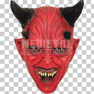 Devil Mask Halloween Costume Child PNG