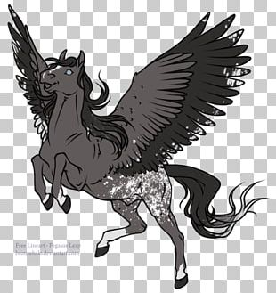 Horse Pegasus Line Art Drawing Unicorn PNG