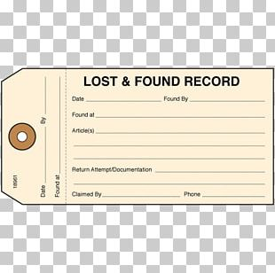 Lost And Found Template Paper Printing PNG