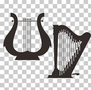 Musical Instrument Harp Guitar PNG