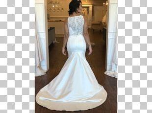 Wedding Dress Shoulder Party Dress Satin PNG