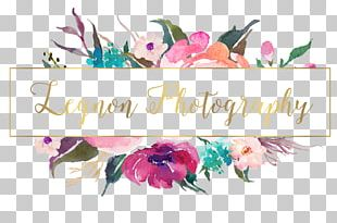 Watercolor Painting Floral Design Logo Photography PNG