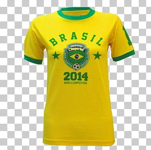 T-shirt 2014 FIFA World Cup Brazil Sleeve Crew Neck PNG