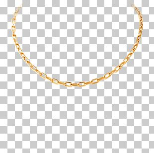 Necklace Chain Jewellery Gold PNG