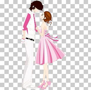 Cartoon Couple Valentines Day Romance U5c0fu8aaa PNG