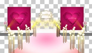 Pink Wedding Designs On The Main Stage Renderings PNG