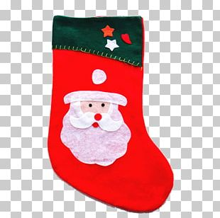 Santa Claus Christmas Decoration Sock Gift PNG