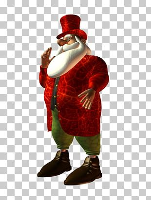 Santa Claus Christmas Ornament Costume Design Figurine PNG
