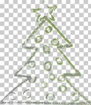 Christmas Tree Line Angle Christmas Ornament PNG