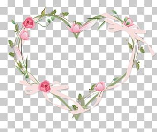 Hearts And Flowers Border Frames PNG