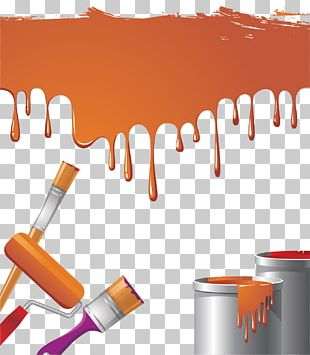 Paint Rollers Brush Bucket PNG