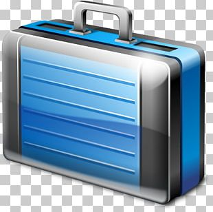 Electric Blue Suitcase PNG