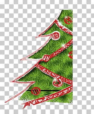 Christmas Tree Abstraction Pattern PNG