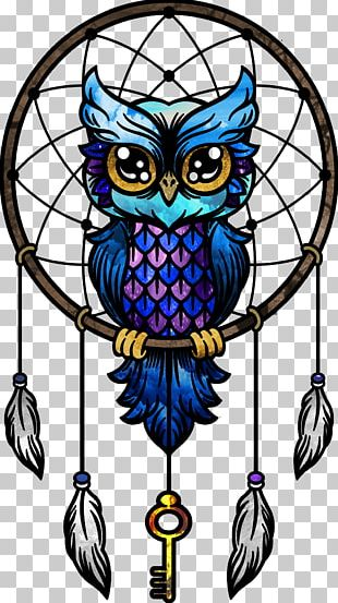 Dreamcatcher Little Owl Paper Drawing PNG