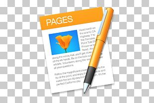 Pages MacOS IWork Apple App Store PNG
