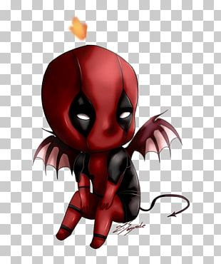 Deadpool Spider-Man Chibi Drawing Anime PNG